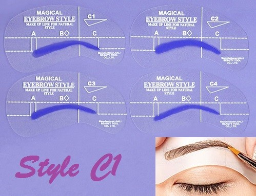 Eyebrow Shaping Stencil Set C1