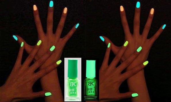 Glow In The Dark Green Nail Polish