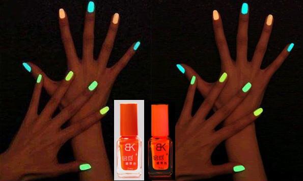 Glow In The Dark Orange Nail Polish