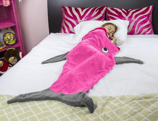 Pink Shark Tail Blanket