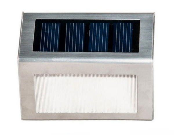 2x Stainless Steel Solar LED Lights