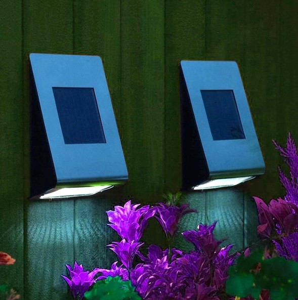 Stainless Steel Solar LED Pair