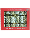 6 Mini Gold Xmas Crackers