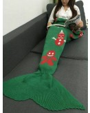 Green Winter Mermaid Blanket