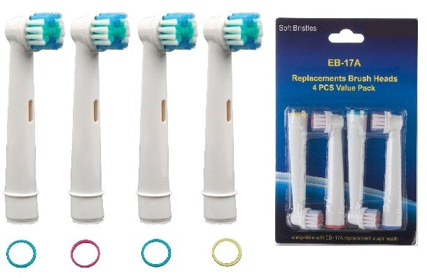 4x Replacement Toothbrush Heads