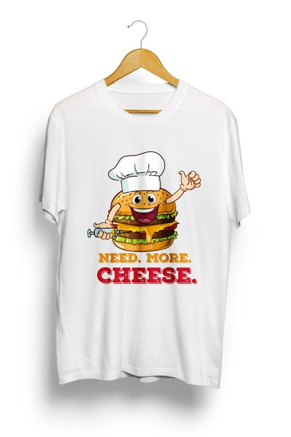 Chef Burger T-Shirt White