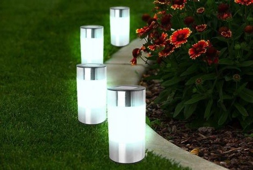 Chrome Solar Light