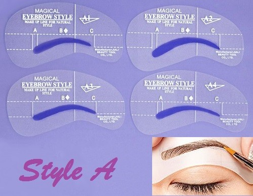 Eyebrow Shaping Stencil Set A
