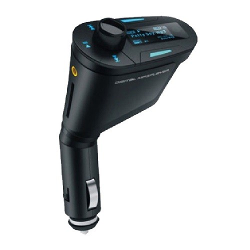 Blue Wireless Car FM Transmitter