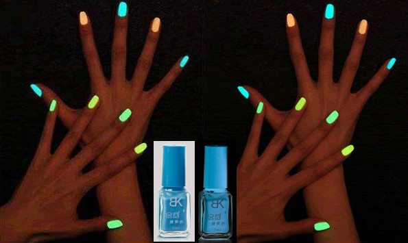Glow In The Dark Blue Nail Polish