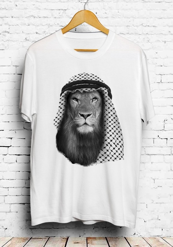 Arab Lion Shemagh White T-shirt
