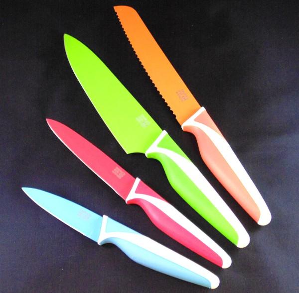 Coloured Kitchen Knife Set