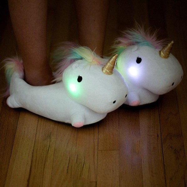LED Unicorn Slippers
