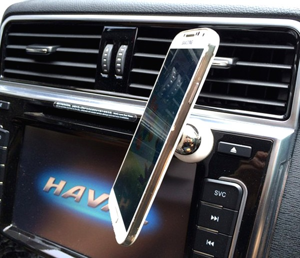 Magnetic 360°  Phone Mount White
