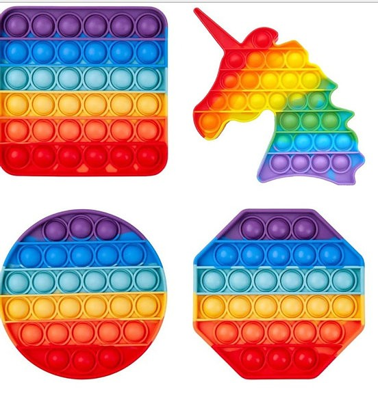 Rainbow Popping Stress Reliever Gadget