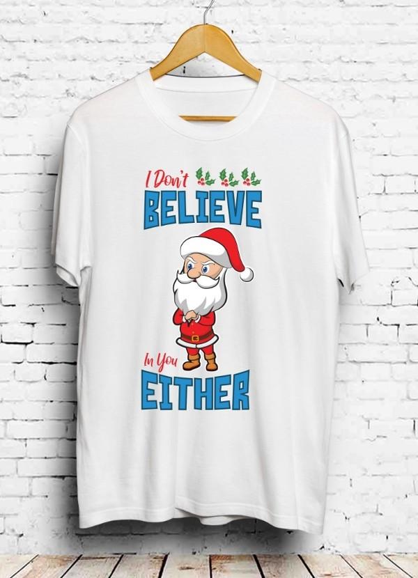Santa Christmas T-Shirt White