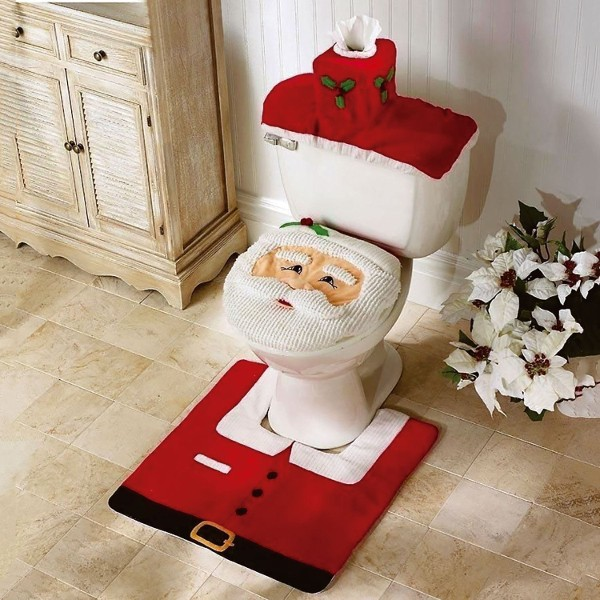 3pc Santa Toilet Cover Seat Set