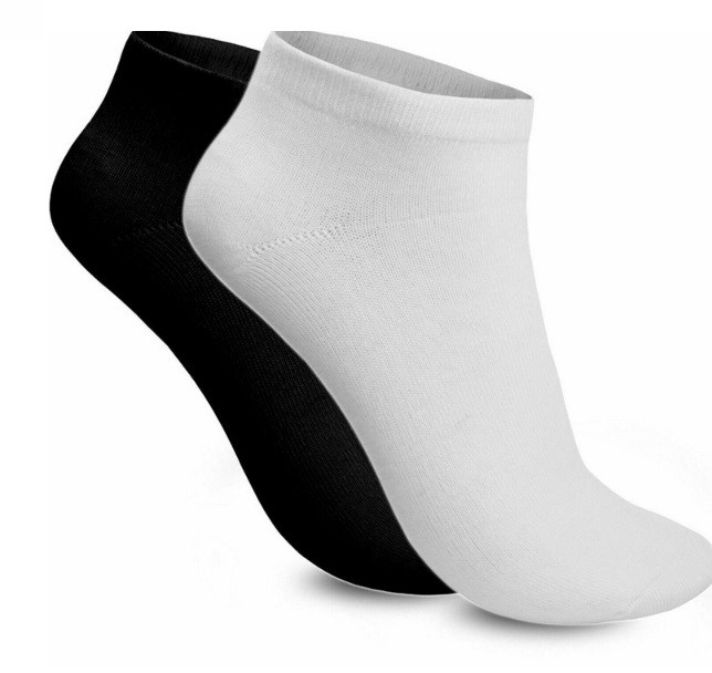 12 Pairs of Trainer Socks Black or White