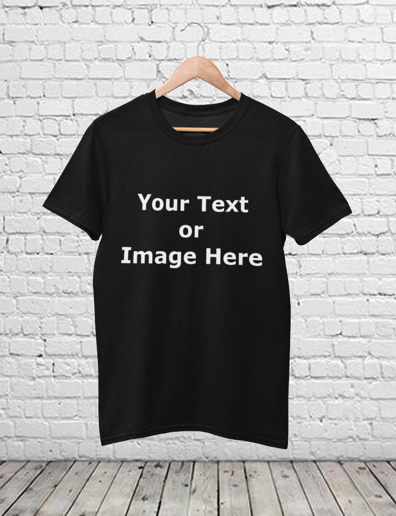 Your Custom Design Unisex T-Shirt Black