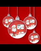 Santa 2020 Christmas Tree Bauble (Design 1)