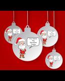 2x Santa Tingle Baubles for Christmas 2021