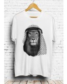 Arab Iraqi Lion Shemagh White T-shirt