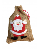 Santa Hessian Gift Bag