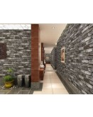 Grey 3D Brick Effect Wallpaper
