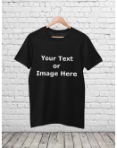 Your Custom Design Unisex T-Shirt Black