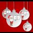 2x Santa Tingle Baubles
